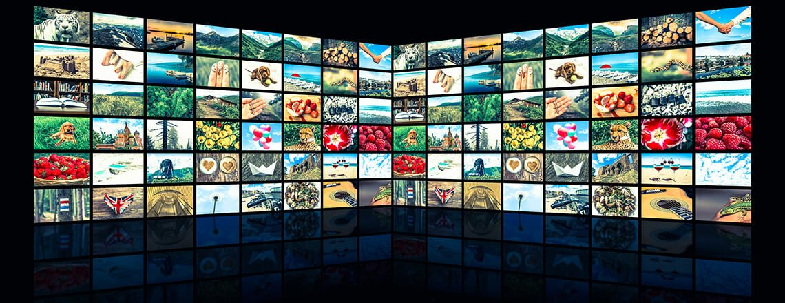 Wall made from TV screens